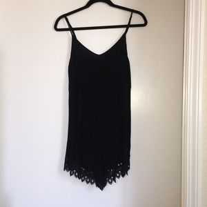 Black Forever 21 Romper w/Lace detail, size S